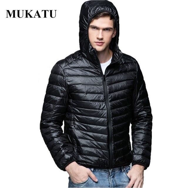 男性パーカー冬ダウンコート90%白いアヒルダウンジャケット超光プラスサイズ冬ブランドダウンジャケット男性フード付き上着コート