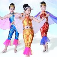 2018 new children's mermaid costume Mermaid dance performance clothing Underwater world fish wear animal clothing