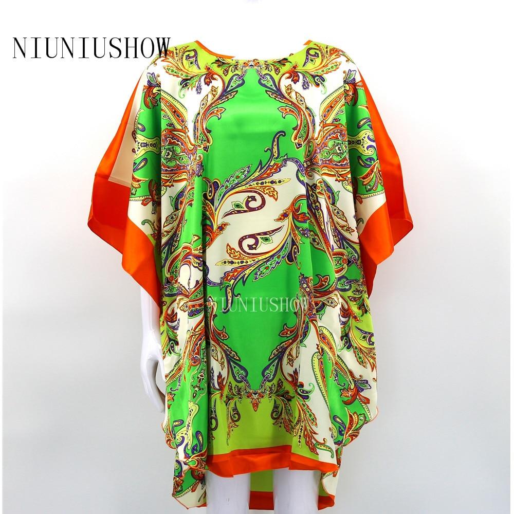 Hot SALE Chinese Female Rayon Nightgown Summer Causal Loose Sleepwear Lady Kaftan Bath Robe Dress Gown One Size