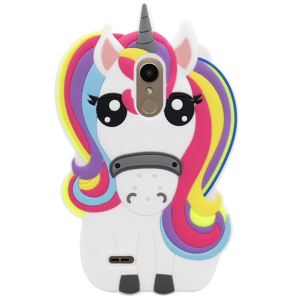 US $5 98 |For LG Premier Pro LTE /LG K30 Case,For LG K10 Alpha 3D Cartoon  Silicone Cute Rainbow Unicorn Horse Animal Soft Shockproof Case-in Fitted