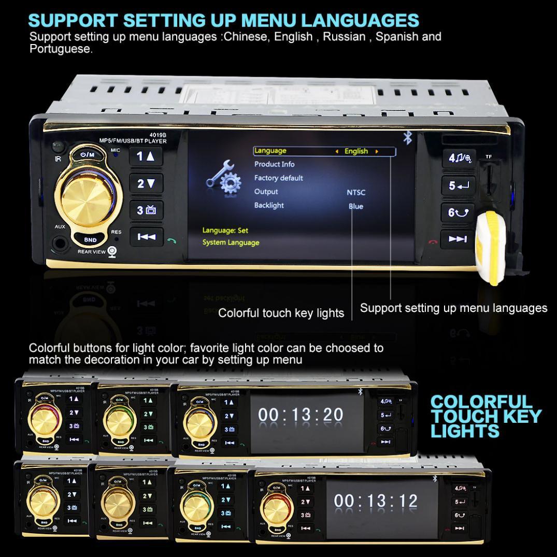 ステレオ MP4 インチ Bluetooth
