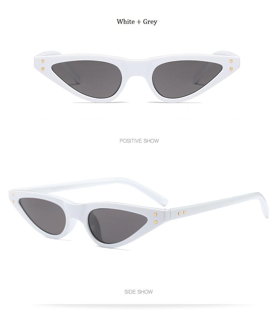 HTB15xSVdNHI8KJjy1zbq6yxdpXaH - Unisex Flat Top Eyeglasses Small Triangle Frame Cat Eye Sunglasses Women UV400 2018 Fashion Color Ocean Film Sun Glasses Cool
