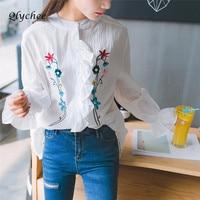 Fahion Women Fake Two Pieces Off Shoulder Patchwork Blouse Shirt Female Blouse Loose Comfortable Blouse