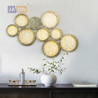 LED New Chinese Copper Glass Round Classic LED Lamp LED Light Wall lamp Wall Light Wall Sconce For Store Foyer Bedroom