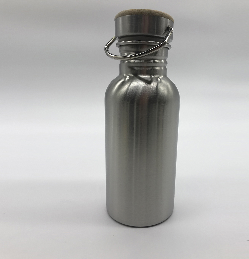 Portable Stainless Steel Water Bottle Bamboo Lid Sports Flasks Leak-proof Travel Cycling 1000ml/750ml Camping Bottles BPA Free