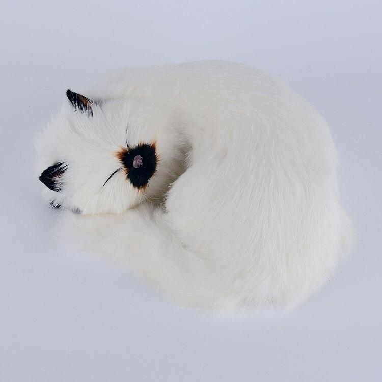 ФОТО new creative white simulation cat model plastic&fur black mouth cat doll gift 25x20cm a109