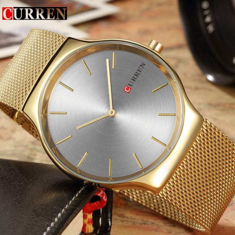Curren Mens Watches Top Brand Luxury Gold Stainless Steel Men Quartz Watch Fashion Business Male Wristwatches Relogio Masculino mens watches top brand luxury curren men full stainless steel analog date quartz casual watch wristwatches relogio masculino