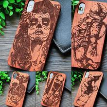25 дизайн тигр дракон роскошные деревянные чехол для телефона для Apple iPhone 5 5S SE 6 6 плюс 6 S 7 8 plus X XS Max XR резьба Деревянный чехол