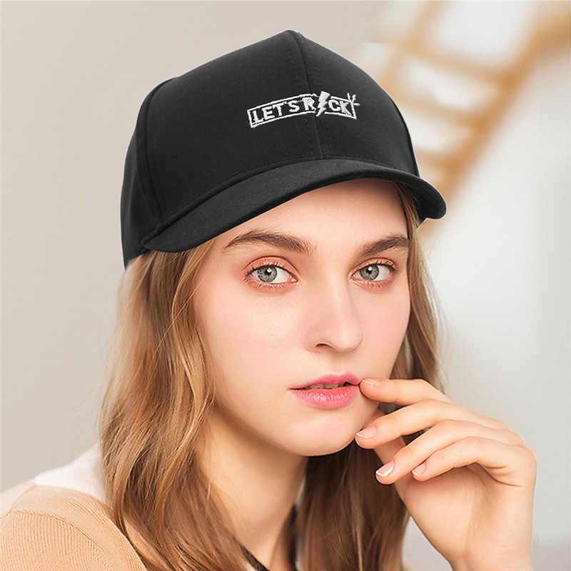 ada83b3d ... GEMVIE New Fashion Baseball Cap For Women Letters Embroidery Unisex  Casual Caps Short Brim Peak Cap ...