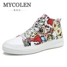 MYCOLEN Hot Sale Men Fashion Shoes Man Sneaker Casual Print Men Canvas  Breathable Lace Up Style Trend Footwear Ayakkabi Erkek 0267ab1cebda