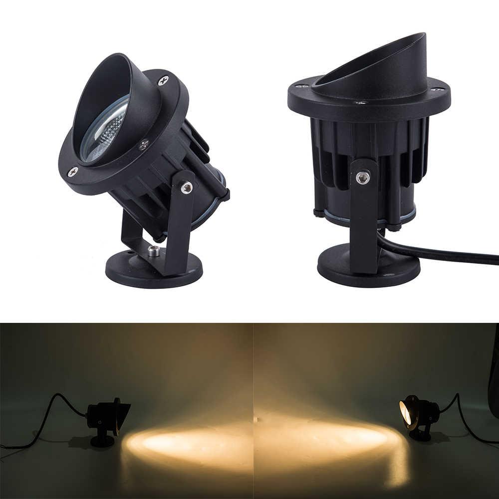 Лидер продаж светодиодный садовый светильник COB 3 Вт 5 Вт IP65 уличные наземные светодиодные точечные лампы 12 V 110 V 220 V светодиодное садовое освещение с наконечником и основание