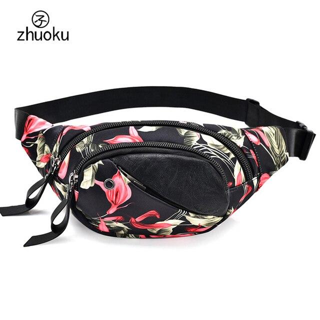 Печать талии сумка женская BANANKA сумка на молнии FANNY PACK Марка Дизайн поясная сумка хорошее качество Оксфорд талии пакеты телефон сумка ZK763