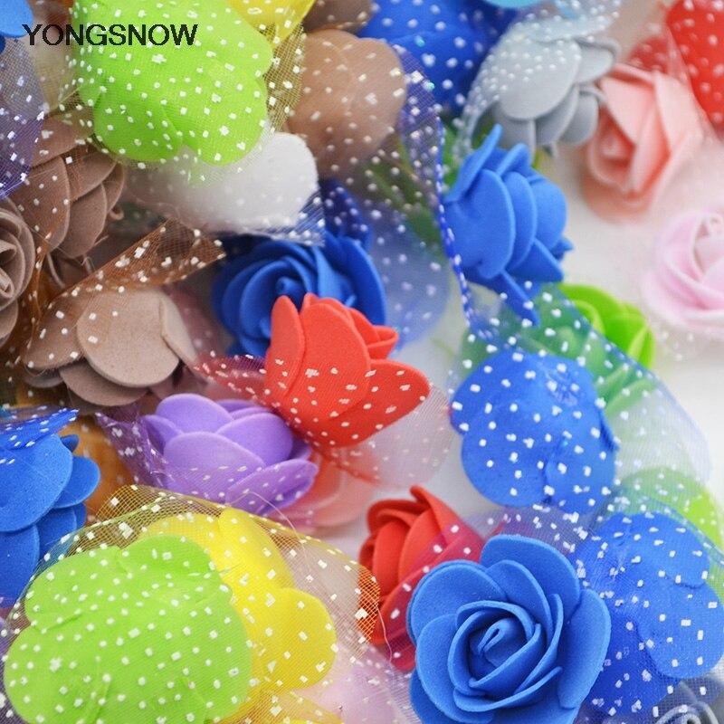 См 3,5 шт./лот 100 см искусственные цветы маленькая ПЕНА РОЗА голова Свадьба невесты PE Букет DIY ручной работы венок Свадебная вечеринка Декор 6Z