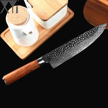 XYj VG10 Damascus Knife 8 inch Chef Kitchen Cooking Japanese Kitchen Cooking Tool Accessories Wood Handle Knives New Arrival(China)