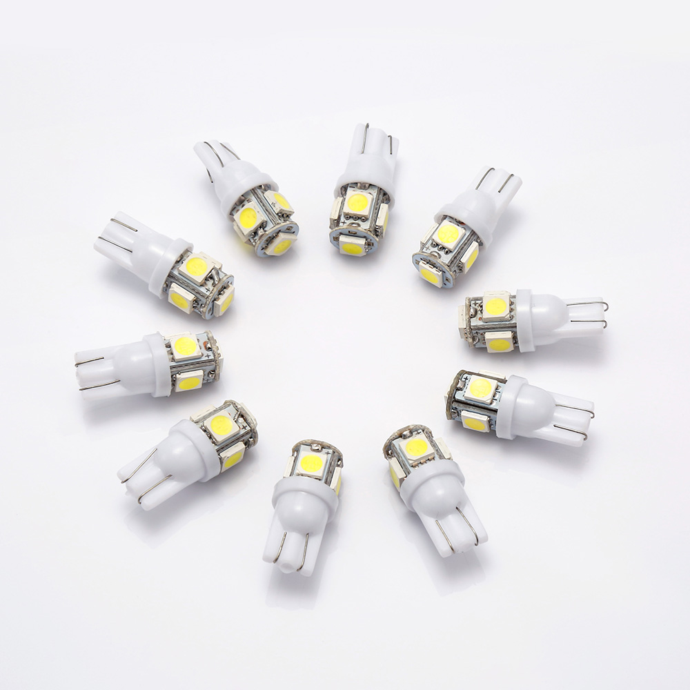 10PCS Signal Lamp T10 Led Car Bulb W5W 194 168 Led T10 Led Lamps For Cars White 5W5 Clearance Backup Reverse Light 12V