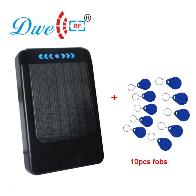 DWE CC RF Cheap control access reader 125khz/13.56mhz rfid keyfob proximity card reader dwe cc rf access control card black rfid reader tag em4100 keyfobs for access control system k016