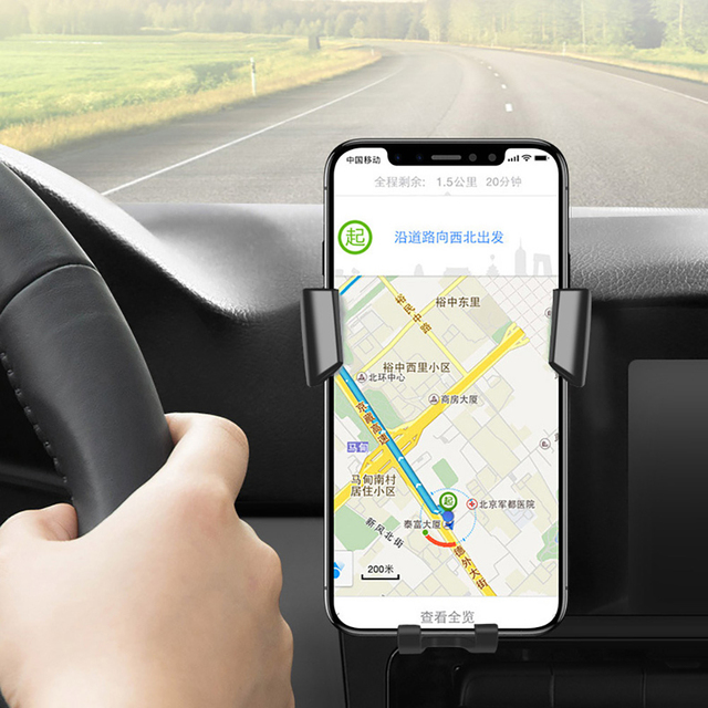 FDGAO 10W Qi Wireless Car Charger Mount Phone Holder For iPhone XS Max XR X 8 Plus Gravity Fast Charging for Samsung S10 S9 S8 5