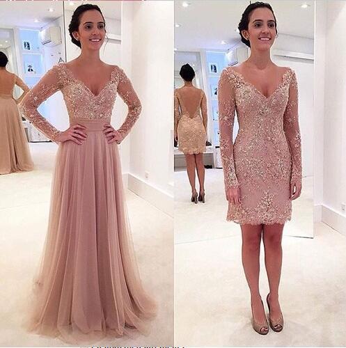 Платье со съёмной длинной юбкой