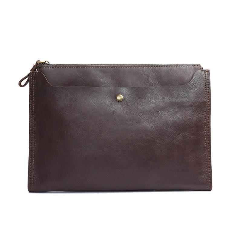 Brand Business Men Document Bag Leather File Folder yinte men s leather file folder bag a4 paper leather file document folder clutch wallets business zipple bag portfolio t5480a