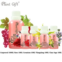 Free Shopping 100 Pure Plant Essential Oil Base Oil Grapeseed Rose Geranium Ylangylang Clary Sage Oil