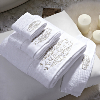 Star Hotels Embroidery Solid Towel Set Square Face Towel Bath Towel Quality Cotton Interrupted Hot Sale Beach Towel Home Use