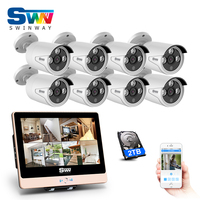 Autumn New Plug And Play 8CH POE CCTV Camera System 2 0MP HD Outdoor 3Array IR