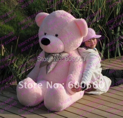 Fancytrader 63'' / 160cm Pink Color Giant Stuffed Teddy Bear Plush Bear Free Shipping FT90059 fancytrader 63 160cm pink color giant stuffed teddy bear plush bear free shipping ft90059