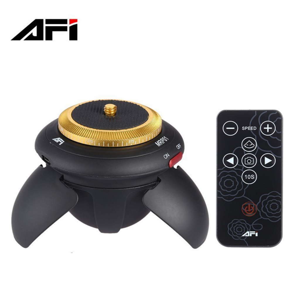 AFI MRP01 Electric Panorama 360 Rotation Time Lapse Tripod Head with Remote Control for Gopro /iPhone/SLR Camera/Selfie Stick time lapse 360 degree auto rotate camera tripod head base 360 tl timelapse for xiaoyi for gopro camera slr for mobile phone
