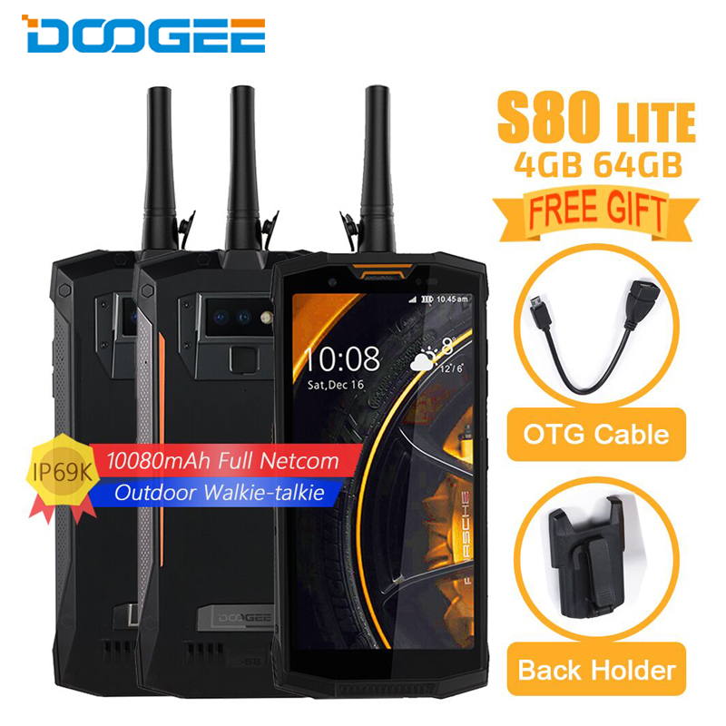 DOOGEE S80 Lite IP68 Étanche Téléphone Portable 5.99 4 gb + 64 gb Helio P23 Octa Core Android 8.1 10080 mah 13MP Caméra Smartphone NFC