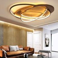 Новые креативные светодио дный кольца современный светодиодный потолочный светильник для гостиной спальни 48 Вт/70 Вт/85 Вт домашний светодио