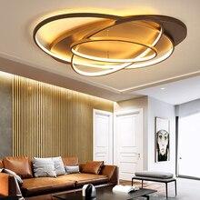 Новые креативные светодио дный кольца современный светодиодный потолочный светильник для гостиной спальни 48 Вт/70 Вт/85 Вт домашний светодио дный светодиодный потолочный светильник AC90V-260V