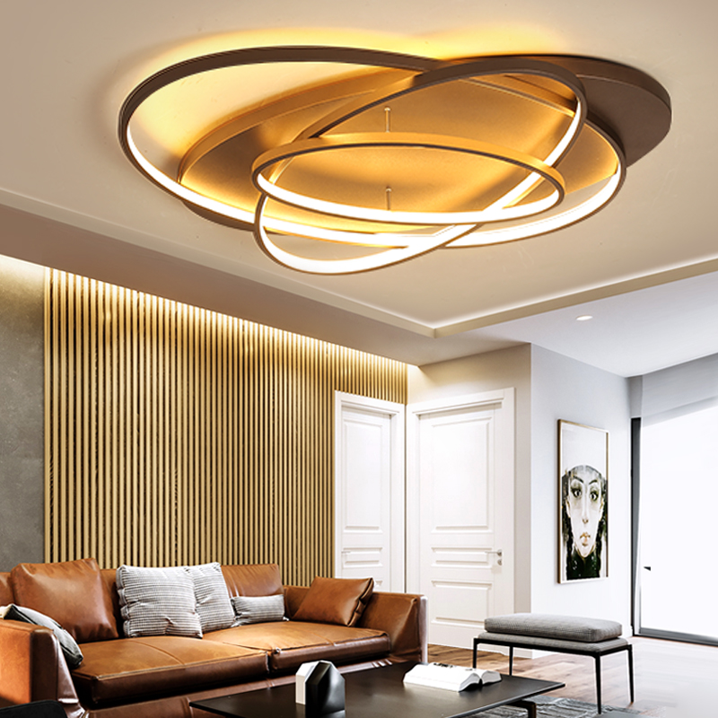 New Creative Rings Modern Led Ceiling Light For Living Room Bedroom 48w/70w/85w Home Indoor Led Ceiling Light Fixture AC90V-260V