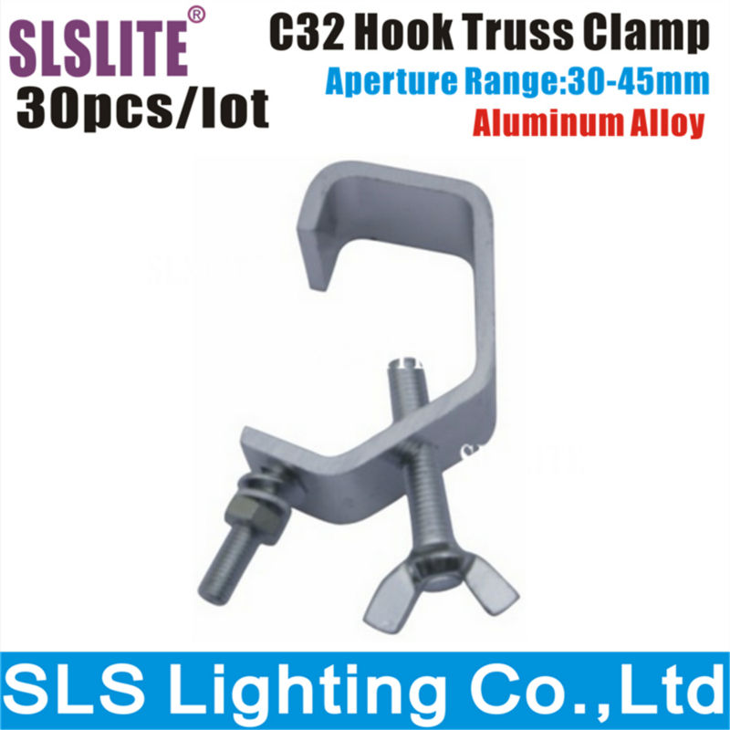 30 Pack 10A 30-45mm Truss Pipe New G-Clamp Stage Lighting G CLAMP Black Light Effects Clamps G clamp Mini Size Cheap Price ...