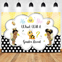 Mehofoto Newborn Baby Shower Photo Background for Photography Gender Reveal Theme Party Backdrop Prince Princess Bee mehofoto bee baby shower backdrop a sweet little bee sunflower photography background honey bumble bee baby shower party banner