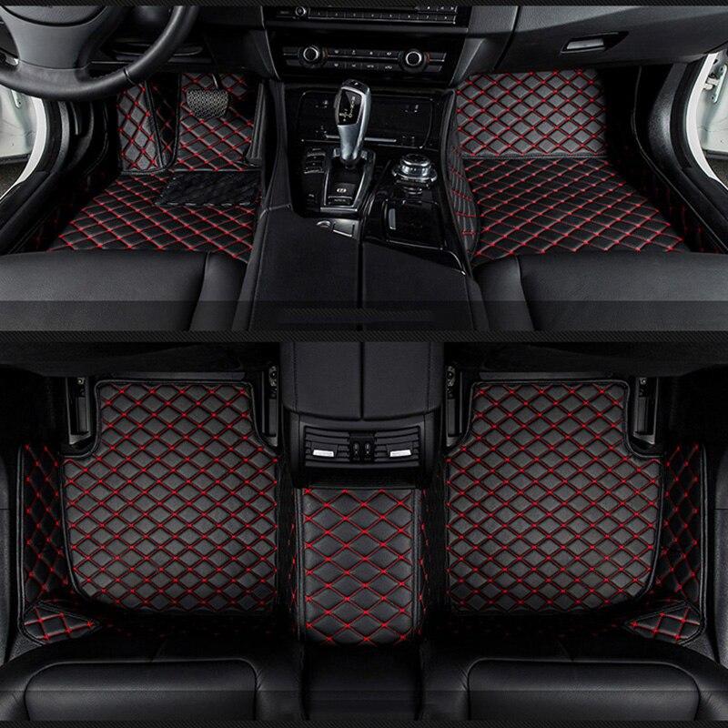 Tapis de sol de voiture pour Audi A6L R8 Q3 Q5 Q7 S4 S5 S8 RS TT Quattro A1 A2 A3 A4 A5 A6 A7 A8 accessoires de voiture auto bâtons de pied Personnalisé