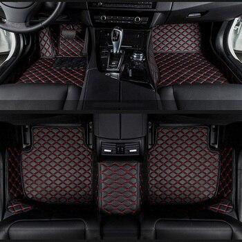 Tappetini auto per Audi A6L R8 Q3 Q5 Q7 S4 S5 S8 RS TT Quattro A1 A2 A3 A4 a5 A6 A7 A8 accessori auto auto bastoni Su Misura del piede