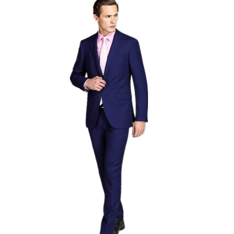 1ec115ef9e49f Erkek takım elbise yün karışımlı yüksek en kaliteli özel düğün damat takım  elbise toka iki tane uzun kollu yaka suit