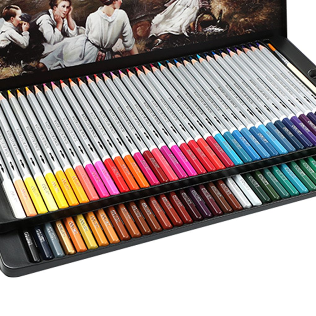 24/36/48 Colors Watercolor Pencils Set Drawing Pen Art Set Children Kids Painting Sketching Water Color Pencils Kit