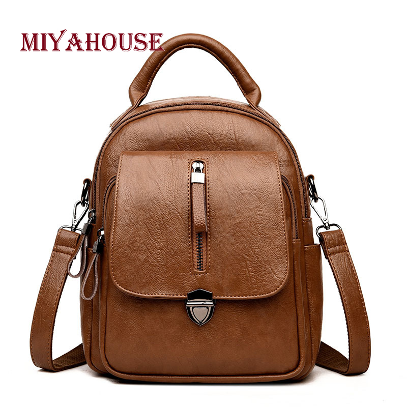 Miyahouse Korean Backpacks Women Summer Travel Rucksacks Candy Color Shoulder School Bag For Teenager Girl High Quality Backpack