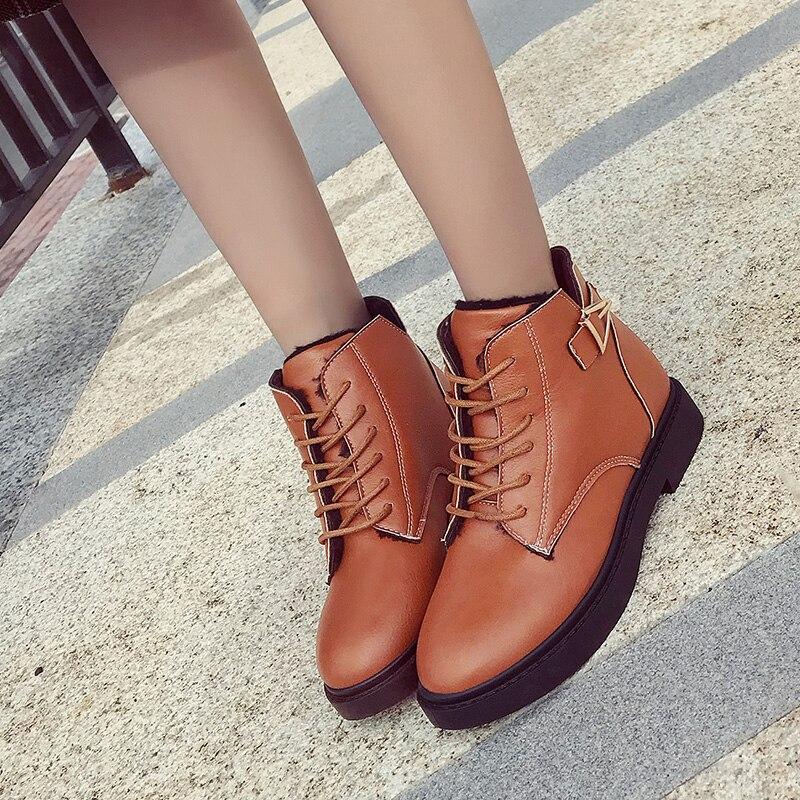 naranja Bloque Calzado Tamaño La Tacón De Alto Negro Plus Mujer Cuero  Zapatos Botas Moda Pu 2019 Señoras ... c172de5012bc