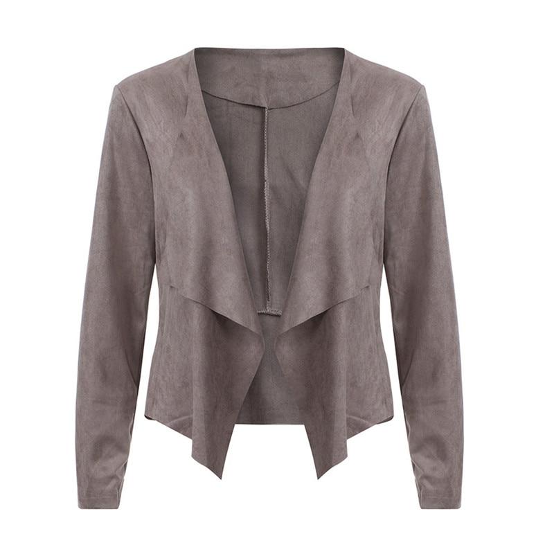 Fashion Autumn Women Open Stitch Coat Long Sleeve Waterfall Ladies Cardigan Suede Coats Loose Asymmetric Casual Fall Jackets W3