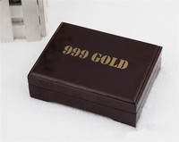 10 Pcs Practical Artistic Gold Foil Plated Poker Playing Card Wooden Box Case For Present Gift