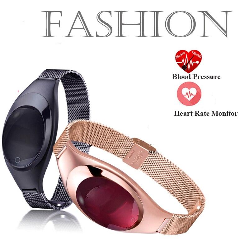 imágenes para Z18 Pulsera de moda para mujer de Oxígeno Arterial monitoreo de la Frecuencia Cardíaca Podómetro Recordatorio SNS Deporte Pulsera Inteligente Android IOS