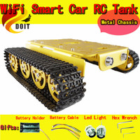 DOIT T200 RC Robot Tank Caterpillar Tractor Chassis Crawler Intelligent Robot Car Obstacle Wall E Barrowload