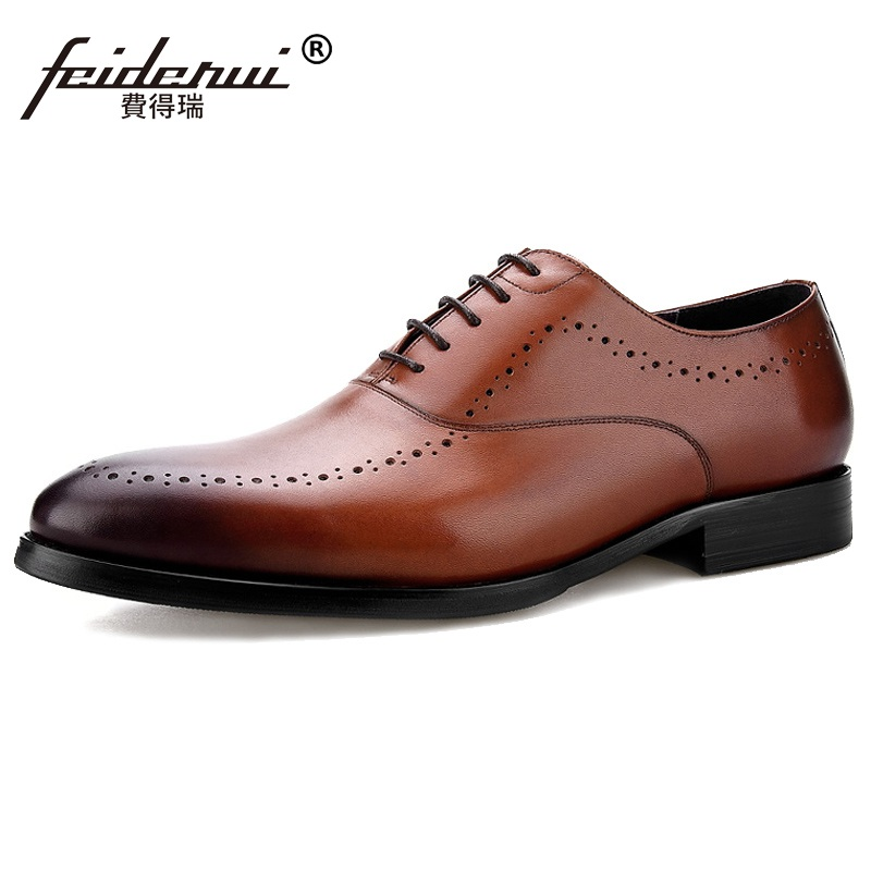 Luxury Brand Man Wedding Shoes Genuine Leather Breathable Dress Oxfords Pointed Toe Formal Men's Handmade Business Flats MG10 plus size 2016 new formal brand genuine leather high heels pointed toe oxfords punk rock men s wolf print flats shoes fpt314