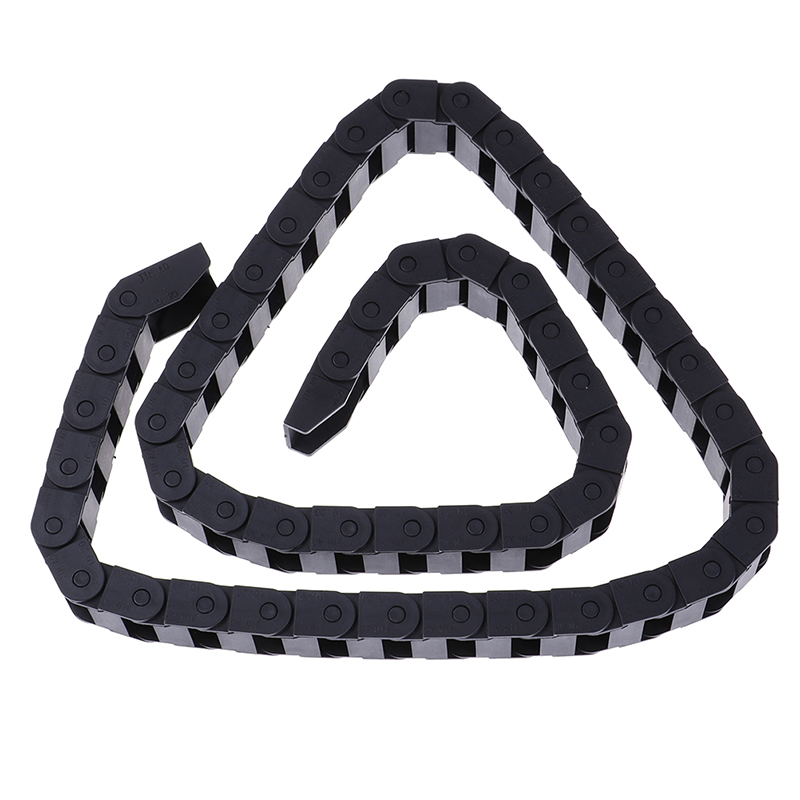 Transmission Chains <font><b>10*20</b></font> mm 1M Plastic Towline Transmission Drag Chain Machine L1000mm for CNC Router Machine Tools 10*20mm image