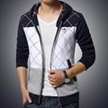 Grid Design Tracksuit Men Patchwork Mens Hoodies Jackets Trend Younth Students Casual Sweatshirts Plus Size M-5XL Sportswear