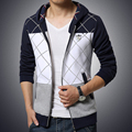 Projeto da grade Homens Treino Patchwork Mens Hoodies Jaquetas Tendência Younth Estudantes Sportswear Moletons Casual Plus Size M-5XL