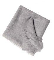 100% кашемир большие размеры женская мода бутик шарф шаль пашмины Клип пряжи светло серый 100x210 см