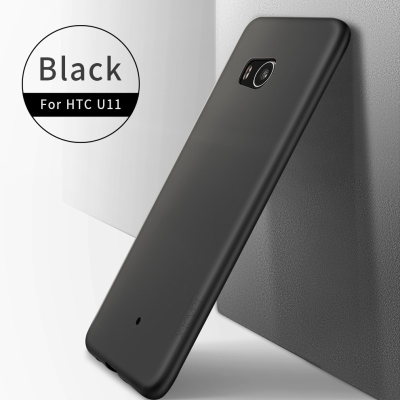 X-LEVEL for HTC U 11 Cases Phone Case fundas Guardian Series Matte Surface TPU Cell Phone Case for HTC U11 Cover Bag capa Black